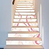 BAI-Fine 13 Streifen Treppenstufen - Stair Riser Decor Strip | Treppenhaus Decor Treppen Decals | Abnehmbar - Star Riser Decals - DIY-Projekt
