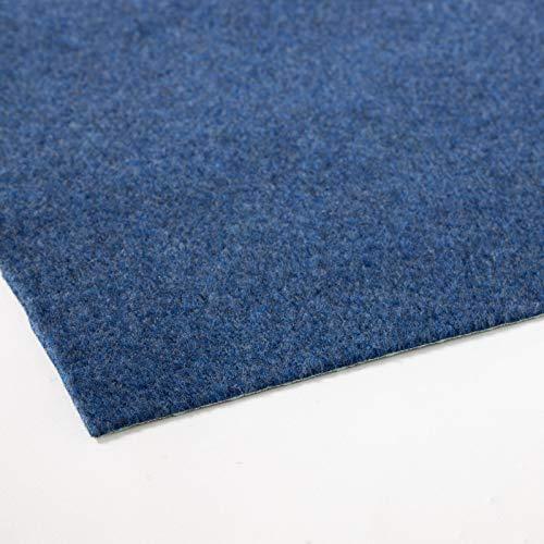 Rasenteppich Farbwunder Pro | Balkonteppich | Kunstrasenteppich für Terrasse, Balkon und Freizeit | Erhältlich in 7 Farben (50 x 50 cm, Blau)
