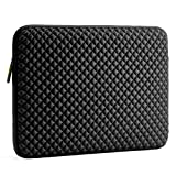 Evecase 17'-17.3' pouces Housse Protection Horizontale en Néoprène avec Gaufrage de diamant et l'intérieur en Velours, Résistent à l'eau, Anti-Choc pour Ordinateur Portable, Laptop, Notebook, Tablette, Chromebook, Ultrabook, Apple iPad, Samsung - Noir