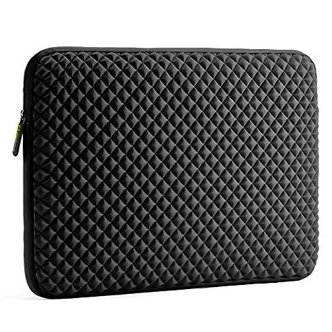 17.3 inch Laptop Diamond Foam Sleeve, Evecase Splash & Shock Resistant Neoprene Universal Case Bag for Chromebook Ultrabook Macbook Notebook Computer - Black