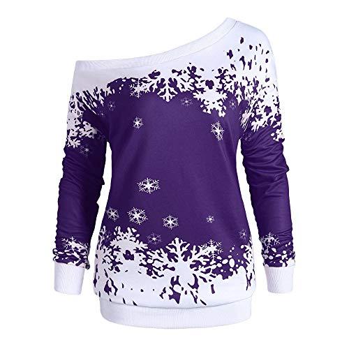 57ac02a13ac10 Christmas Party Dress Blouse Sweatshirt Tops OtoñO Invierno Hombro Sin  Tirantes El Hombro Ropa Blusas Sudaderas