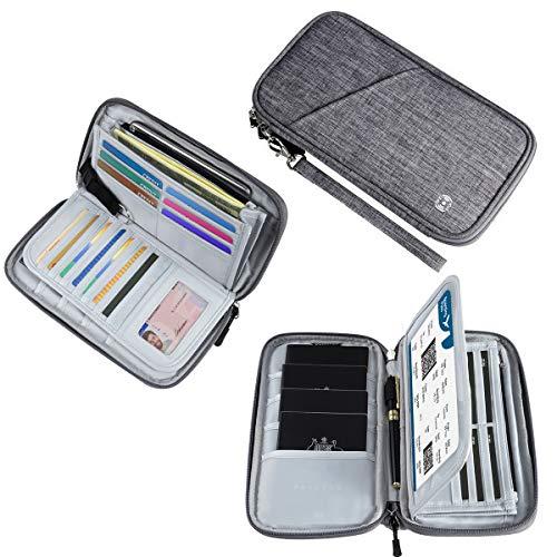 Reisepass Tasche Reisepasshülle Grau RFID-Blocker Schutzhülle |