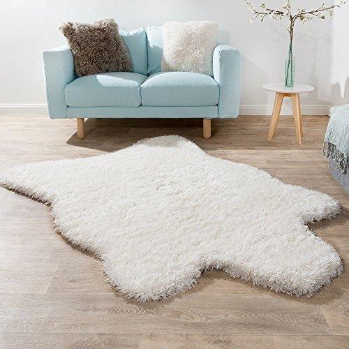 Weiße Flokati-teppiche (Paco Home Fellteppich Kunstfell XXL Imitat Flokati Stil Langflor Teppich Wohnzimmer Weiß, Grösse:133x190 cm)