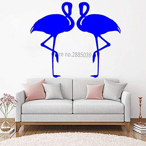 guijiumai Liebe Flamingo Wandaufkleber Für Schlafzimmer Wandbilder Kunst Paar Tiere Poster DIY Selbstklebende Abnehmbare wasserdichte Aufkleber L 1 L 132 cm x 110 cm