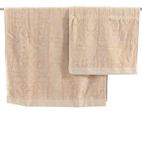 Paar Handtücher Roberto Cavalli Home Linie Logo Sand
