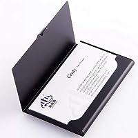 Porta biglietti da visita in acciaio inossidabile, colore nero 1 Confezione