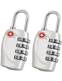 TRIXES X2 Cadenas avec code à 4 chiffres TSA pour valises et sacs