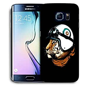 Snoogg Tiger With Helmets Designer Protective Back Case Cover For SAMSUNG GALAXY S6 EDGE