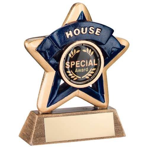 in inglese Starburst Trophy Meteor gamma . 10,2/cm effetto ottone Award con scroll e Star Award Design
