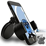 iTALKonline iHOLDER UNIVERSAL COMPACT 360 Degrees Rotating Case Compatible Wind Screen Dashboard Suction Mount Holder for Apple iHolder Case Compatible In Car Rotating Holder For Mobile Phones For Apple iPhone 5 (2012)