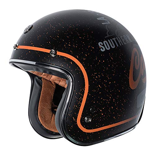 TORC T5015WC21 Casco aperto 3/4 (Flat Black, West Coast, XS)