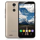 "OUKITEL C8 Smartphone 3G Android 7.0 (MTK6580A Quad Core 1.3GHz, 5.5"" LTPS HD Infinity Schermo, 2GB RAM 16GB ROM, 13MP+5MP Camera, Fingerprint ID, Dual SIM, 3000mAh Batteria, GPS, WIFI) Oro"
