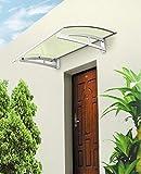Aluminium Vordach 115 x 100 cm Türdach Türvordach Haustür Tür Dach Pultvordach