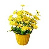 Vi.yo künstliche, Seide, Blume, für Pflanzen, Blumen für Zuhause, Hochzeit, Garten, Dekoration, plastik, gelb, 29*21*9cm