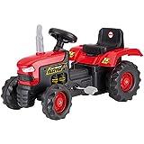 Accionado por pedal Paseo Niños de dolu niños en el tractor rojo de juguete al aire libre Jardín Ride Ons Edad 3+ años