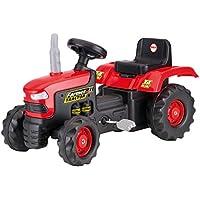 Accionado por pedal Paseo Niños de dolu niños en el tractor rojo de juguete al aire
