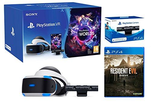 """PlayStation VR """"Resident Evil VII"""" Pack + VR Worlds + PS4 Kamera V2 - VR Pack"""