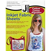 Jacquard Products 8.5 x 11-inch 100 Percent Cotton Percale Ink Jet Fabric Sheets, Pack of 10