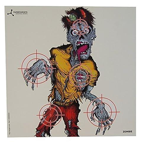 Flip Target 6.7in Square Airgun Shooting Paper Animals Targets - Zombie / 50 Pack