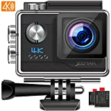 JEEMAK Action Cam 4K UHD 20MP Sport Kamera WiFi 170 ° Wasserdichte Actionkamera 40m...