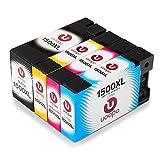 Uoopo Kompatibel Ersatz für Canon PGI-1500XL Tintenpatronen, Hohe Ausbeute Multipack Patrone Verwenden für Canon Maxify MB2350 MB2050 MB2300 MB2000 MB2150 MB2755 MB2155 MB2750 Drucker, Packung mit 4 (1 Schwarz, 1 Cyan, 1 Magenta, 1 Gelb)