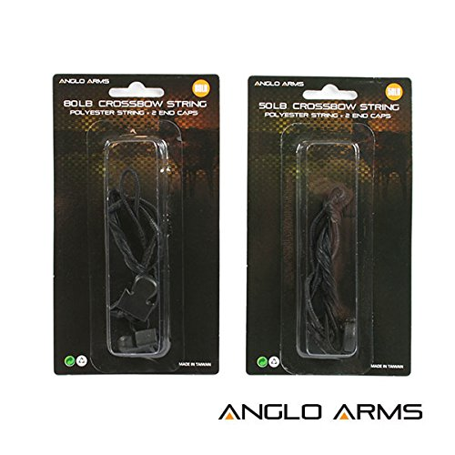 Deluxe Crossbow Pistol Replacement String Bow for 50lb & 80lb Includes Limb End Caps Test