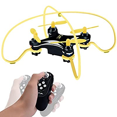 Honor-Y Portable Mini RC Quadcopter Drones, 3D Flips Altitude Hold Mini Drone and One-hand Remote Control Drone Helicopter with Gravity Sensor for Beginners Kids Boys Girls Indoor or Outdoor (Yellow)