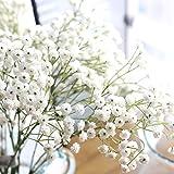 RYcoexs 1 Têtes Gypsophila en Plastique Fleur Artificielle Romantique Fête De Mariage Décor À La Maison White