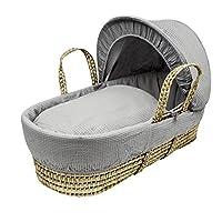 Kinder Valley Waffle Palm Moses Basket, Grey