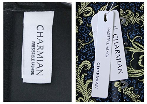 Charmian - Damen Unterbrustkorsett mit Brokatmuster - Burlesque-Stil Blau