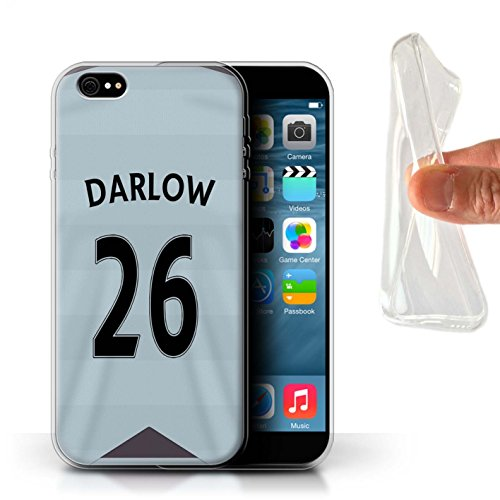 Offiziell Newcastle United FC Hülle / Gel TPU Case für Apple iPhone 6+/Plus 5.5 / Pack 29pcs Muster / NUFC Trikot Away 15/16 Kollektion Darlow