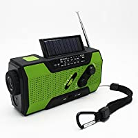 SAYES portable solar powered crank am fm radio for camping use (Green)