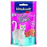 Vitakraft Cat Yums, Katzensnacks mit Lachs und Omega 3, 9er Pack (9 x 40 g)