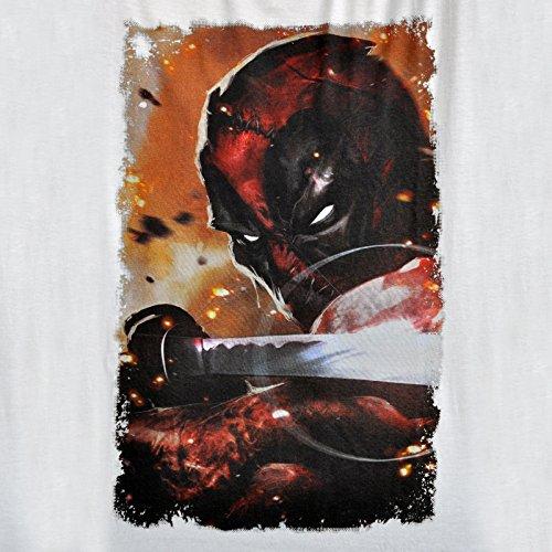Deadpool Sword Pose T-Shirt weiß Weiß - weiß