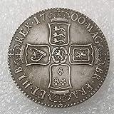 YunBest 1700 Pièce de Monnaie Britannique Ancienne en Argent - Pièce de Monnaie Britannique Shilling Ancienne - Excellent Outil pédagogique pour Enfants - BestShop...