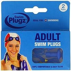 Swim 2 Pairs Plugz Adult Swimming Earplugs - Pack of 2