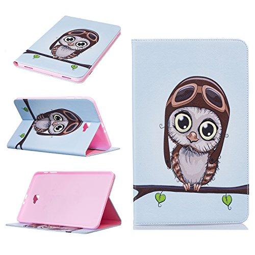 Galaxy Tab A 10.1Fall, beimu Ultra Leicht Slim PU Leder mit Kreditkarte & ID Card Slot Schutzhülle für Samsung Galaxy Tab A 25,7cm (sm-t580/sm-t585) (Kein S Pen) Tablet 2016Release Eule