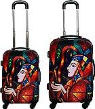 normani Hartschalen-Kofferset aus ABS - Trolley, Koffer, Reisekoffer Farbe Girl