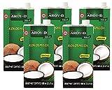 Aroy-D - Leche de coco - Paquete de 5 (5 x 1 litro)
