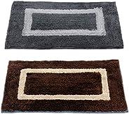 "Story@Home Handicraft Style Eco Series 2 Piece Cotton Blend Door Mat Set - 40 x 60 cm or 16""x24&qu"
