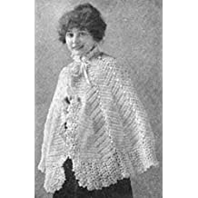 DELICATE CROCHETED WOOLEN CAPE - A Vintage 1916 Crochet Pattern (ePattern) - Instant Download Ebook - AVAILABLE FOR DOWNLOAD to Kindle DX, Kindle for PC, ... yarn, craft, women, girl) (English Edition)