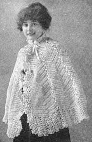 DELICATE CROCHETED WOOLEN CAPE - A Vintage 1916 Crochet Pattern (ePattern) - Instant Download Ebook - AVAILABLE FOR DOWNLOAD to Kindle DX, Kindle for PC, ... yarn, craft, women, girl) ()