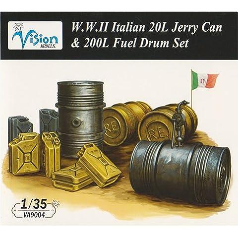 Vision Models [VA9004] 1/35 WWII Italian Army 20L jerrycan 200L drum set (japan import) - Vision Drum Set