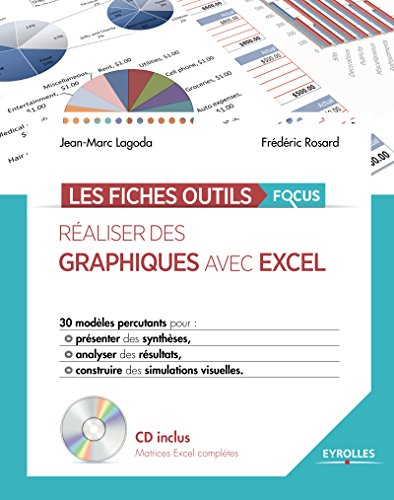 Réaliser des graphiques avec Excel: 30 modèles percutants pour présenter des synthèses, analyser des résultats, construire des simulations visuelles. Avec cd-rom.
