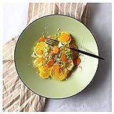 SMC Teller klein frische Keramik Western Tiefe Schale Matte Keramik Teller Salatteller Obstteller Suppenteller Schüssel Eimer Teller große Scheibe