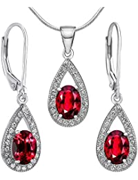SILVEGO 925 Sterling Silver Jewellery Set with Swarovski® Crystals Clear cUW1Pf