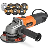"VonHaus 125mm 900W (5"") Angle Grinder with 7 Disc Accessory Kit - Compatible"