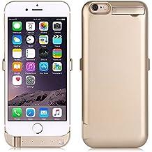 """ZOGIN Funda Batería iphone 6 plus / iphone 6s plus, 10000mAh Funda Protectora Cargador / Funda de Batería Integrada Recargable de Alta Capacidad para iPhone 6 plus / 6s plus 5.5"""", Color Oro"""