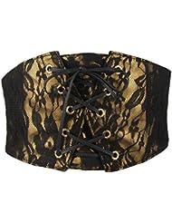 DCY Dames dentelle poitrine vêtement ultra large ceinture décorative