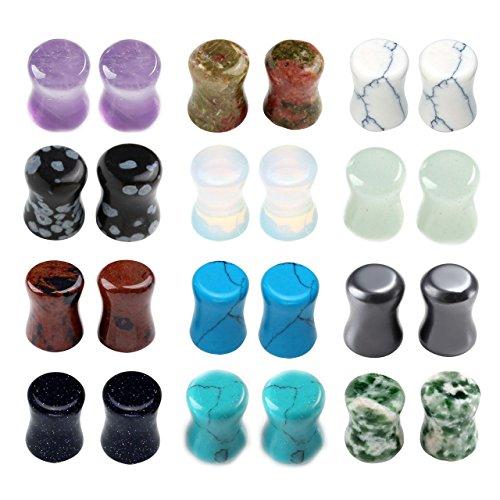 piercingj-24pcs-boucles-doreilles-pierre-turquoise-aventurine-vert-unakite-hematite-obsidienne-acajo